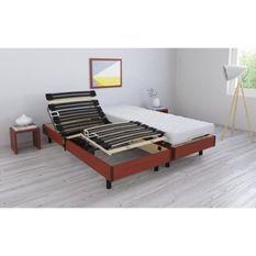 RODA Ensemble relaxation matelas + sommiers électriques 2 x 80 x 200 cm - Mousse - 14 cm - Ferme