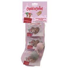 ROSEWOOD Bas de Noël Cupid&Comet contient du vrai saumon, dinde et du fromage et 2 jouets - Pour chat