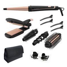 ROWENTA CF4231F0 Infinite Looks Multistyler, Fer a lisser boucler gaufrer les cheveux, Revetement céramique, 14 accessoires,Pochette