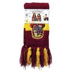 RUBIES Echarpe avec écusson Harry Potter Gryffondor - Rouge bordeaux et jaune