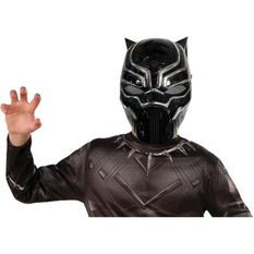 RUBIES Masque Black Panther métallique 1/2