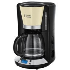 RUSSELL HOBBS 24033-56 - Cafetiere programmable Colours Plus - Technologie WhirlTech - 15 tasses - 1100 W - Creme