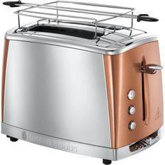 RUSSELL HOBBS 24290-56 - Toaster Luna - Technologie Fast Toast - Inox & Cuivré Rosé