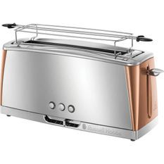 RUSSELL HOBBS 24310-56 - Grille-pain Gris - Technologie Fast Toast - Inox & Cuivré Rosé