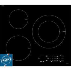SAUTER SPI4361B - Table de cuisson induction - 3 zones - 7200W - L60 x P52cm - Revetement verre - Noir