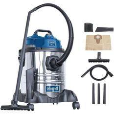 SCHEPPACH Aspirateur eau et poussiere 20L 1200W avec une brosse combinée, un suceur plat, un filtre mousse et un sac en papier - A