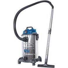 SCHEPPACH Aspirateur eau et poussiere 30L 1400W avec prise synchrone 200W + une brosse combinée, un suceur plat, un filtre mousse,
