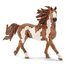 Schleich Figurine 13794 - Animal de la ferme - Etalon Pinto