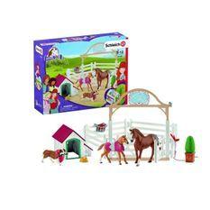 SCHLEICH Horse Club Chevaux invités d'Hannah avec Chienne Ruby - Pour enfant
