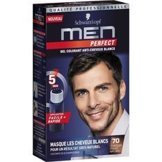 SCHWARZKOPF Gel Colorant Men Perfect Anti-Cheveux Blancs - Châtain Foncé Naturel 70