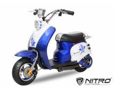Scooter électrique enfant rétro 350W bleu
