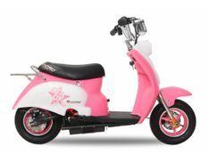 Scooter électrique enfant rétro 350W rose