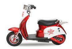 Scooter électrique enfant rétro 350W rouge