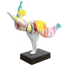 Sculpture femme polyrésine multicolore Tessa