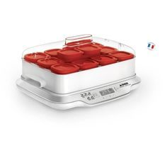 SEB YG661500 Yaourtiere Multidélices Express 12 pots rouges