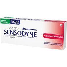 SENSODYNE Dentifrice Traitement sensibilité - 2 tubes de 75 ml