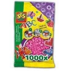 SES CREATIVE Lot de 1000 perles a repasser - Rose