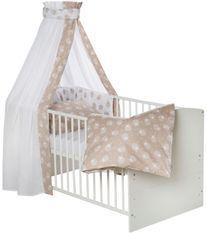 Set de lit beige et blanc Agneaux