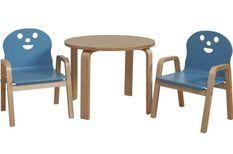 Set table et 2 chaises enfant Lodi bleu
