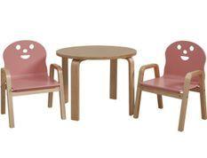 Set table et 2 chaises enfant Lodi rose