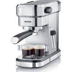 SEVERIN 5994 cafetiere Expresso Espresa - 1350W - 15 bars - 1,1L - chauffe rapide (40 sec.) inox brossé/noir