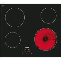 SIEMENS ET611HE17F Table de cuisson vitrocéramique 60 cm - Affichage digital - Commande touchControl (+/-)