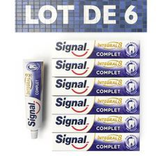 SIGNAL Lot de 6 dentifrices Integral 8 Protection Complete 48H - 75ml