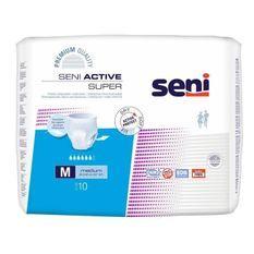 Slips absorbants pour fuites urinaires SENI Active - Taille M - Incontinence forte - Lot de 10