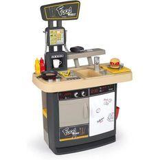 Smoby - Food Corner Restaurant - Cuisine Resto avec Lecteur CB - 29 Accessoires - Jouet d'Imitation pour Enfant