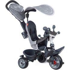 Smoby - Tricycle Baby Driver Plus Gris - Vélo Evolutif Enfant Des 10 Mois - Roues Silencieuses - Frein de Parking