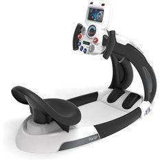 Smoby - V8 Driver Space - Simulateur de Conduite pour Enfant - Navette Spatiale - Volant Electronique - Sons et Lumieres