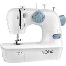 SOLAC COTTON 12.0-SW8220 Machine a coudre - 7,2 W - 2 vitesses - Blanc