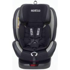 SPARCO SIeGE AUTO ENFANT ROTATIF GROUPE 0+/1/2/3 (0/36KG) NOIR/GRIS ISOFIX