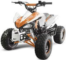 Speedy 1000W 48V orange 7 pouces Quad enfant électrique