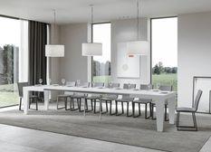 Table extensible frêne blanc 6 à 20 personnes L 160 à 420 cm Kristo