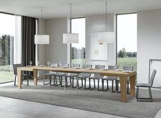Table extensible chêne nature 6 à 20 places L 180 à 440 cm Kristo