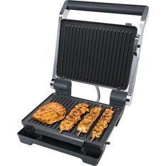 STEBA 184100 FG100 Grill de contact électronique - 2000 W - Surface de cuisson antiadhésive: 2 x 29 x 23 cm - Inox et noir