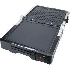 STEBA 187000 FG70 Grill de contact - 1800 W - Surface de cuisson antiadhésive: 2 x 27 x 24 cm - Inox et noir