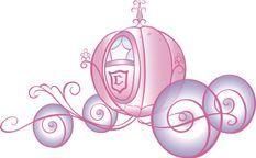 Sticker scintillant géant Carrosse de Princesse Disney