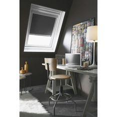 Store enrouleur occultant de toit gris anthracite VELUX S06 - L.114 x H.118 cm - MADECO