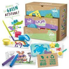 SUPER GREEN Kit de 3 activités bio : coloriage, tampons et peinture