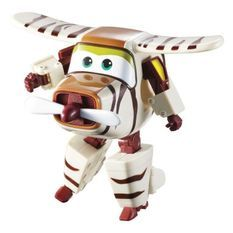 SUPER WINGS – TRANSFORMING BELLO – Avion Jouet Transformable et Figurine Robot 12 cm – Jouet Enfant 3 ans+