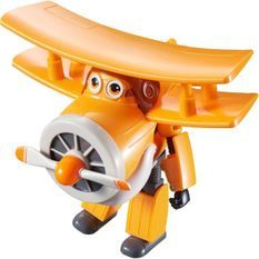SUPER WINGS – TRANSFORMING GRAND ALBERT – Avion Jouet Transformable et Figurine Robot 12 cm – Jouet Enfant 3 ans+