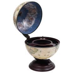 Support de vin globe de dessus de table Bois d'eucalyptus Vert