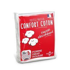 SWEETHOME Protege-matelas confort polycoton - 90x190 cm