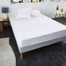 SWEETNIGHT Protege-matelas CHLoe AEGIS 100% coton anti-acariens 180x200 cm - Blanc