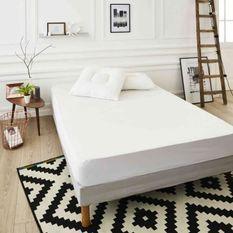 SWEETNIGHT Protege-matelas PREMIUM NIKOS 160x200 cm - Blanc