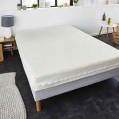 SWEETNIGHT Rénove-matelas housse intégrale ANDREA 180x200 cm - Blanc