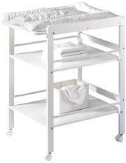 Table à langer 2 étagères pin massif blanc Wrap