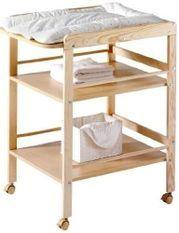 Table à langer 2 étagères pin massif clair Wrap